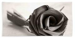 Eternal Rose In Sepia Hand Towel