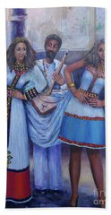 Ethiopian Ladies Shoulder Dancing Bath Towel