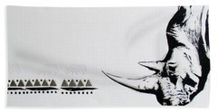 Ethnic Rhino Hand Towel