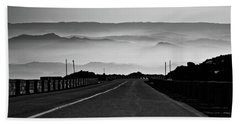 Bath Towel featuring the photograph Etna Road by Bruno Spagnolo