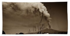 Etna, The Volcano Hand Towel by Bruno Spagnolo