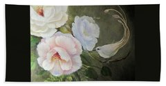 Bath Towel featuring the painting Etre Fleur  by Patricia Schneider Mitchell