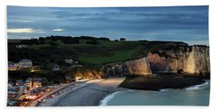 Etretat In The Evening Bath Towel