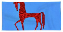 Etruscan Horse #2 Hand Towel