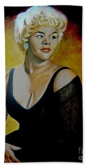 Etta James Hand Towel by Chelle Brantley