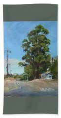 Eucalyptus Tree Near Schellville, Ca Bath Towel