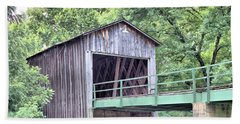 Euharlee Creek Covered Bridge Bath Towel