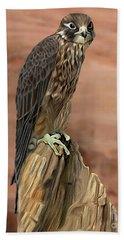 Eurasian Hobby Falcon Bath Towel by Walter Colvin