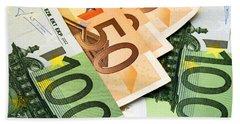 Euro Banknotes Hand Towel