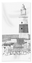 Europa Point Lighthouse Hand Towel