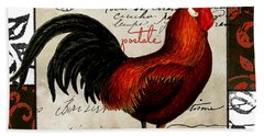 Europa Rooster II Hand Towel by Mindy Sommers