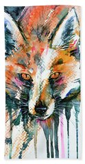 European Red Fox Hand Towel