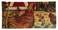 Even Chickens Can Be Heroes Bath Towel