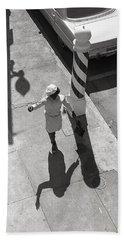 Even Your Shadow Dances On Mardi Gras Day Hand Towel by KG Thienemann
