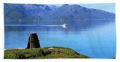 Evenes, Fjord In The North Of Norway Hand Towel by Tamara Sushko