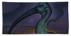 Bath Towel featuring the painting Evening And The Hiss Of Sadness by Andrew Batcheller