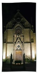 Hand Towel featuring the photograph Evening At Loretto Chapel Santa Fe by Kurt Van Wagner