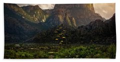 Evening At The Chisos Hand Towel