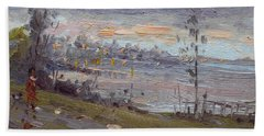 Evening By The River Hand Towel