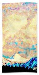 Evening Clouds Dispersing Over Sheep's Head Peak Hand Towel