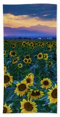 Evening Colors Of Summer Hand Towel
