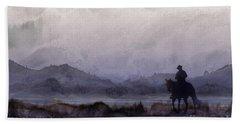 Evening Horseback Ride Bath Towel by Judy Filarecki