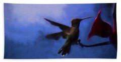Evening Hummingbird Bath Towel