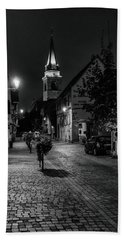 Hand Towel featuring the photograph Evening In Bergheim by Alan Toepfer