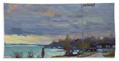 Evening In Gratwick Waterfront Park Hand Towel