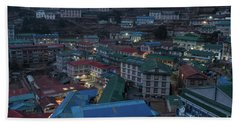 Bath Towel featuring the photograph Evening In Namche Nepal by Mike Reid