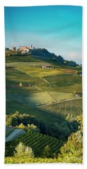 Bath Towel featuring the photograph Evening In Piemonte by Brian Jannsen