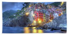 Evening In Riomaggiore Bath Towel