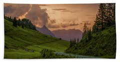 Evening In The Alps Bath Towel