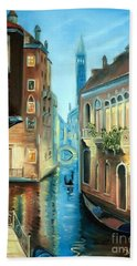 Evening In Venice Hand Towel by Derek Rutt