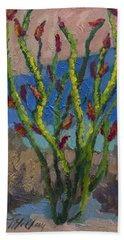 Evening Ocotillo Hand Towel