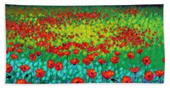 Evening Poppies Hand Towel