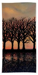 Evening Reflections Hand Towel