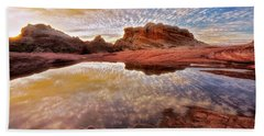 Evening Reflections  Bath Towel by Nicki Frates