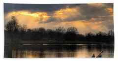 Hand Towel featuring the photograph Evening Relaxation by Sumoflam Photography