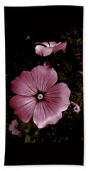 Evening Rose Mallow Hand Towel by Danielle R T Haney
