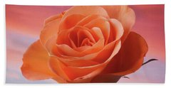 Evening Rose Hand Towel by Terence Davis