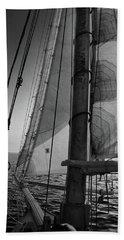 Evening Sail Bw Hand Towel