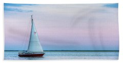 Evening Sail Bath Towel