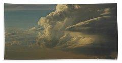 Bath Towel featuring the photograph Evening Sky by Ann E Robson