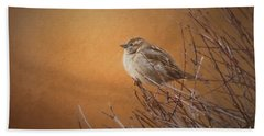 Evening Sparrow Song Bath Towel