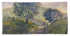 Evening Stroll In Millington Dale Hand Towel