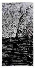 Evening Sun Of Waterton Hand Towel by Anna  Duyunova