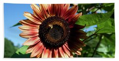 Evening Sun Sunflower 2016 #2 Bath Towel