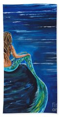 Evening Tide Mermaid Hand Towel