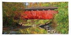 Everett Road Covered Bridge  5860 Hand Towel